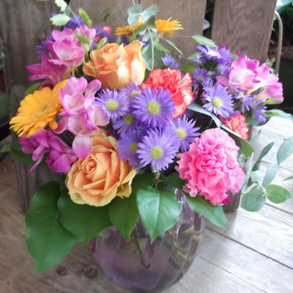 Summer Brights vase arrangement